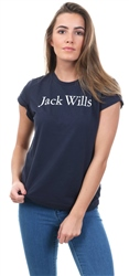 Jack Wills Navy Forstal Boyrfriend T-Shirt