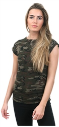 Parisian Camo Printed Short Sleeve T-Shirt
