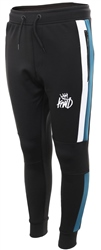 Kings Will Dream Black/Teal/White Panel Mert Jog Pant
