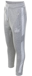 Bee Inspired Grey Marl Hidaka Panel Sweatpants