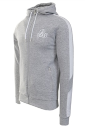 Bee Inspired Grey Marl Hidaka Zip Hoodie