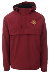 Siksilk Burgandy Energy Overhead Windbreaker