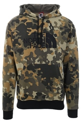 The North Face Green Camo Drew Peak Overhead Hoodie