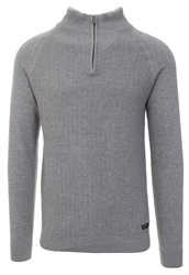 Holmes & Co Cloud Grey Marl Halton 1/4 Zip Jumper