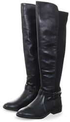 Xti Black Over The Knee High Round Toe
