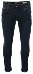 Eto Jeans Dark Blue Denim Straight Fit Jeans