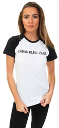 Calvin Klein White/Black Two-Tone Raglan T-Shirt