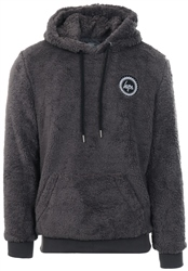 Hype Charcoal Teddy Fleece Pullover Hoodie