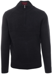 Kensington Black Half Zip Up Pullover Sweater