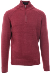 Kensington Red Half Zip Up Pullover Sweater
