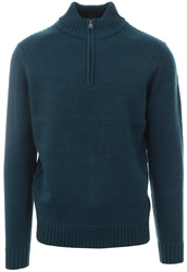 Kensington Teal Half Zip Up Pullover Sweater