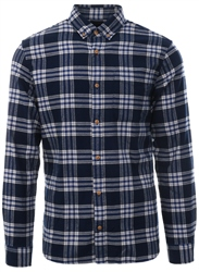 Jack & Jones Navy Columbo L/Sleeve Check Shirt