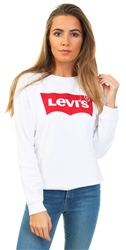 Levi's White Housemark Red Relaxed Graphic Crewneck Sweatshirt