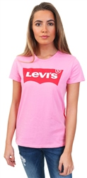 Levi's Sachet Pink Flocked The Perfect Tee