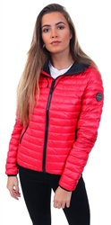 Superdry Raspberry Core Down Hooded Jacket