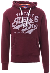 Superdry Wine Hertiage Classic Pull Over Hoodie