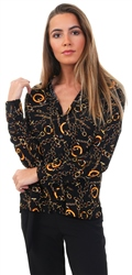 Only Black Printed Long Sleeved Shirt