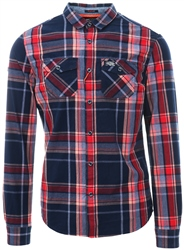 Superdry Amos Red Check Washbasket Shirt