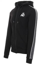 Kings Will Dream Black Carrick Full Zip Hooded Top