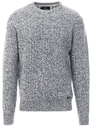 Threadbare Grey Salix Cable Knit Jumper