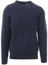 Threadbare Navy Salix Cable Knit Jumper