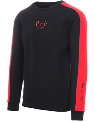 Pre London Black/Red Rich Crew Long Sleeve Sweat
