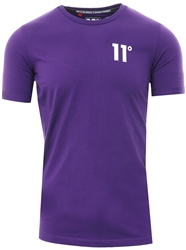 11degrees Purple Muscle Fit T-Shirt