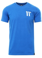 11degrees Cobalt Marl Muscle Fit T-Shirt