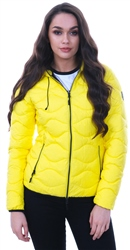 Superdry Yellow Astrae Quilt Padded Jacket