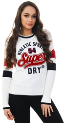 Superdry Cream Varsity Ribbed Jumper