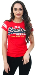 Superdry Royalty Red Vintage Applique T-Shirt