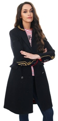 Superdry Black Duchess Long Wool Coat