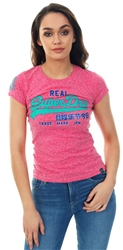 Superdry Hot Rose Vintage Logo Glitter T-Shirt