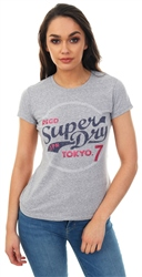 Superdry Grey Snowy Tokyo 7 Glitter Entry T-Shirt