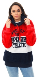 Superdry Cream/Navy/Red Blake Borg Hoodie