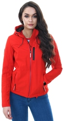 Superdry Fire Red Black Hooded Windtrekker Jacket