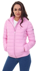 Hilfiger Denim Lilac Quilted Hooded Zip Up Jacket