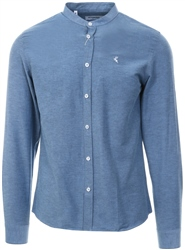 Blue Long Sleeve Granda Shirt by Ottomoda