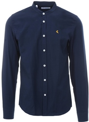 Ottomoda Navy Long Sleeve Button Down Shirt
