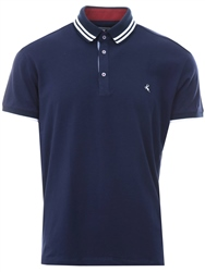 Ottomoda Navy Short Sleeve Button Down Polo Shirt