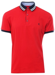 Ottomoda Red Short Sleeve Button Down Polo Shirt