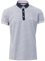Ottomoda Grey Short Sleeve Button Down Polo Shirt