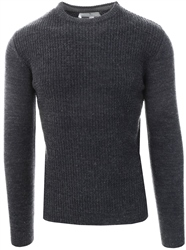 Broken Standard Carbon Marl Crew Long Sleeve Jumper