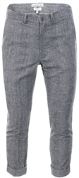 Influence Black/White Check Printed Fitted Trouser