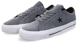 Converse Grey One Star Leather Pro Trainers