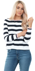 Only Could Dancer Striped Long Sleeve Top