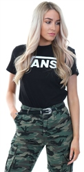 Vans Black Flying V Crew Neck Logo T-Shirt