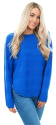 Only Blue Caviar Knit Crew Pullover Top