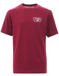 Vans Rumba Red Classic Full Patch Logo Back T-Shirt