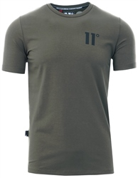 11degrees Khaki Core Muscle Short Sleeve T-Shirt